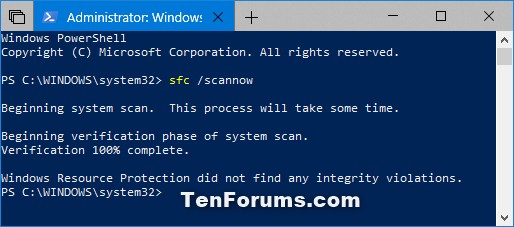 windows resource protection stops sfc