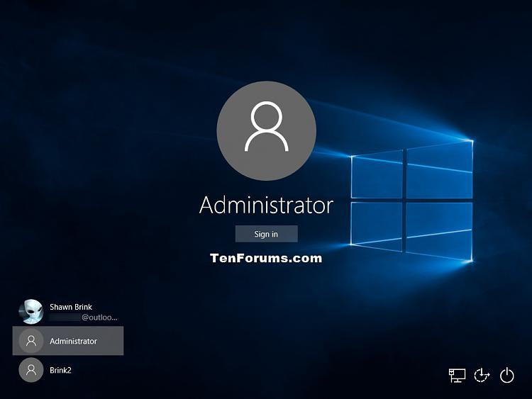 how can i sign in as administrator windows 10