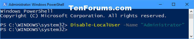 Name:  Disable_built-in_Administrator_in_PowerShell.png Views: 31842 Size:  6.1 KB