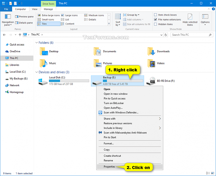 Change Drive Label Name in Windows 10   Tutorials