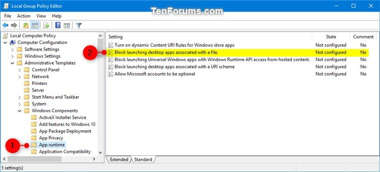 Enable or Disable Microsoft Store Apps Open Files in Desktop