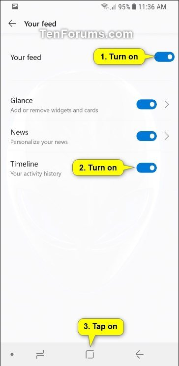 Turn On or Off Timeline in Microsoft Launcher app on Android Phone-android_microsoft_launcher_timeline-3.jpg