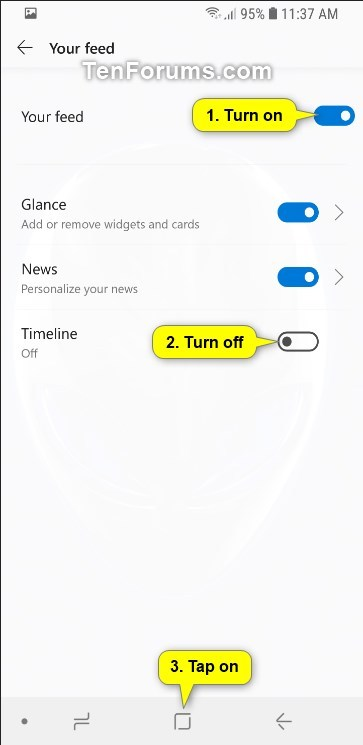 Turn On or Off Timeline in Microsoft Launcher app on Android Phone-android_microsoft_launcher_timeline-4.jpg