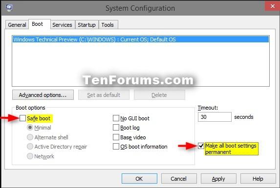 Boot into Safe Mode on Windows 10-1-msconfig_normal_mode.jpg