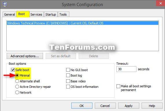 Boot into Safe Mode on Windows 10-msconfig_safe_mode.jpg