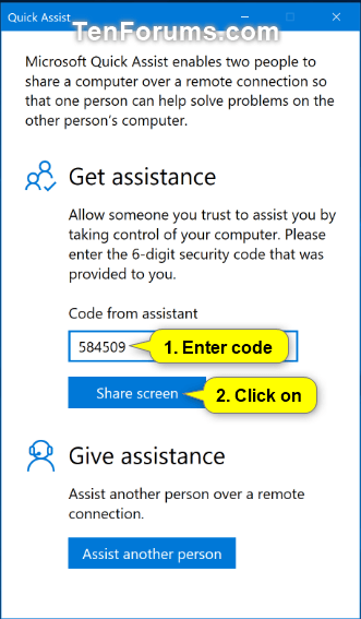 Get and Give Remote Assistance with Quick Assist app in Windows 10-w10_quick_assist_get_assistance-1.png