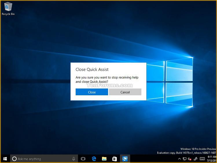 Get and Give Remote Assistance with Quick Assist app in Windows 10