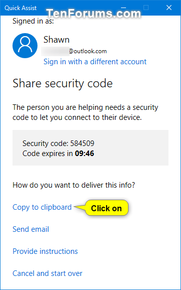Get and Give Remote Assistance with Quick Assist app in Windows 10-w10_quick_assist_give_assistance-3a.png