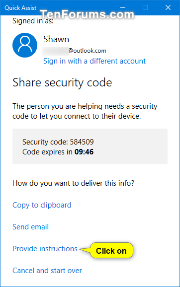 Get and Give Remote Assistance with Quick Assist app in Windows 10-w10_quick_assist_give_assistance-5a.png