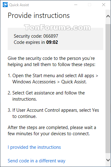 Get and Give Remote Assistance with Quick Assist app in Windows 10-w10_quick_assist_give_assistance-5b.png
