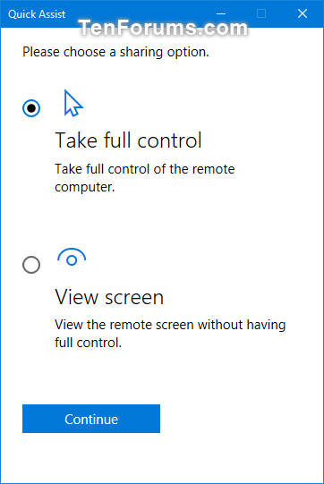 Get and Give Remote Assistance with Quick Assist app in Windows 10-w10_quick_assist_give_assistance-6.png