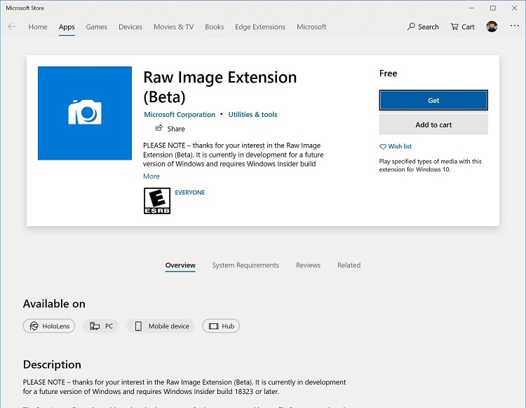 Add Native RAW Image Format Support to Windows 10-raw_image_extension_app.jpg