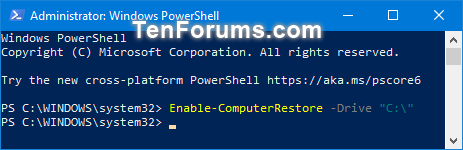 Turn On or Off System Protection for Drives in Windows 10-turn_on_system_protection_for_drives_in_powershell.png