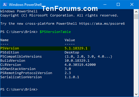 Check PowerShell Version in Windows-windows_powershell_version-2.png
