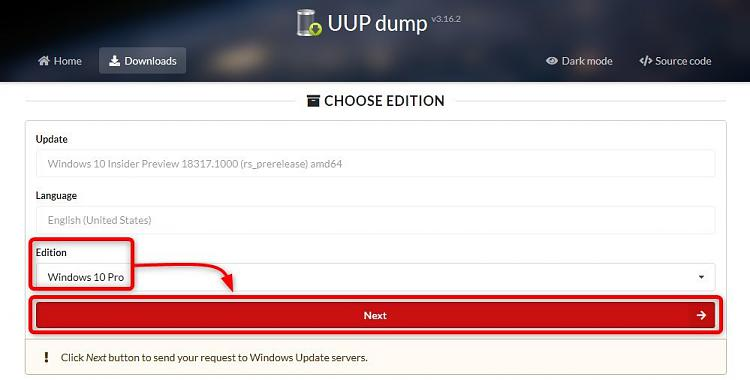Windows Insider - Get Latest Fast Ring ISO image-uup-edition.jpg