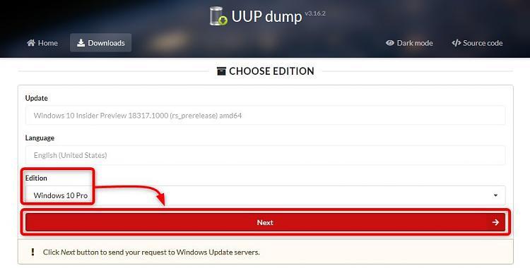 Windows Insider - Get Latest Fast Ring ISO image-uup-edition.jpg