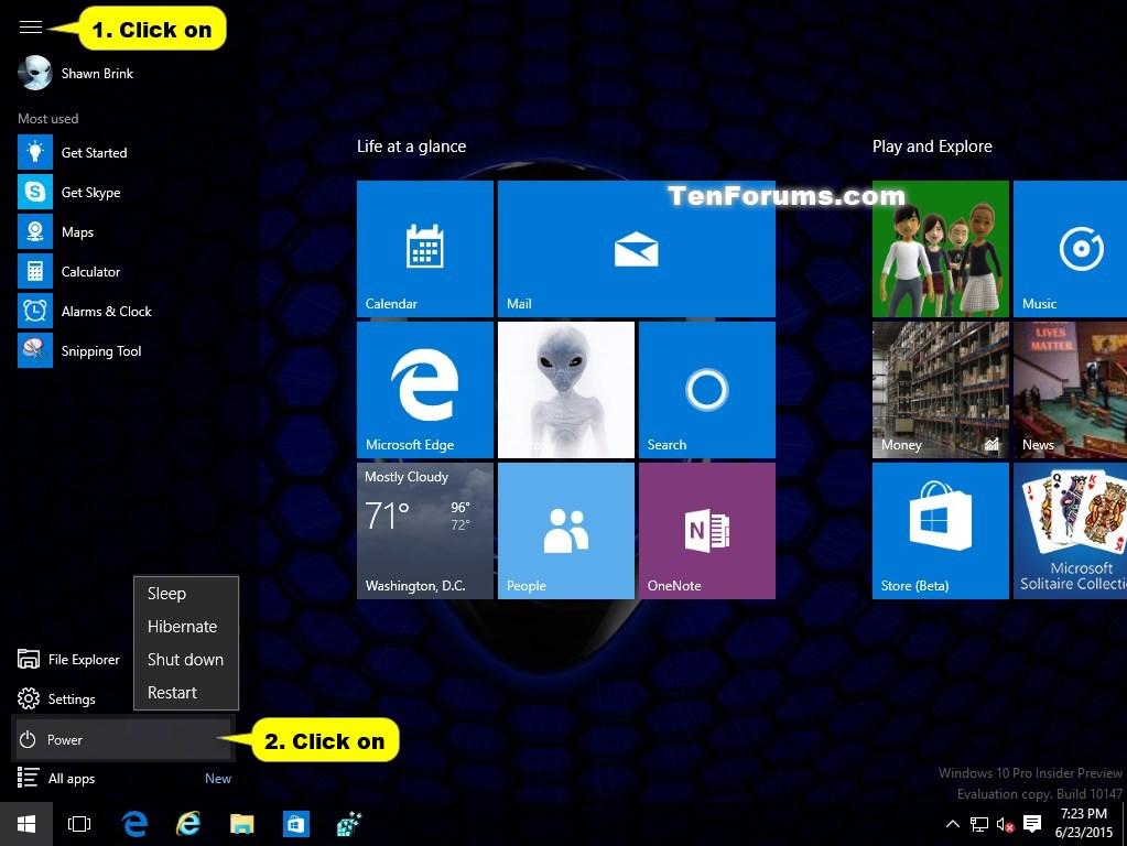 Restart Computer in Windows 10 | Tutorials