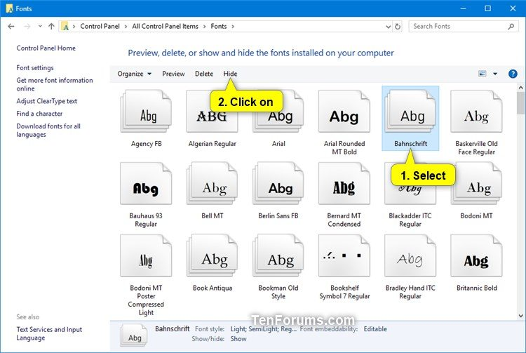 Hide or Show Fonts in Windows-hide_font_family.jpg