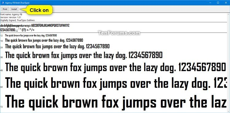 Install Fonts in Windows 10 | Tutorials