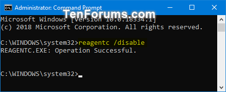 Enable or Disable Windows Recovery Environment in Windows 10-disable_windows_re.png