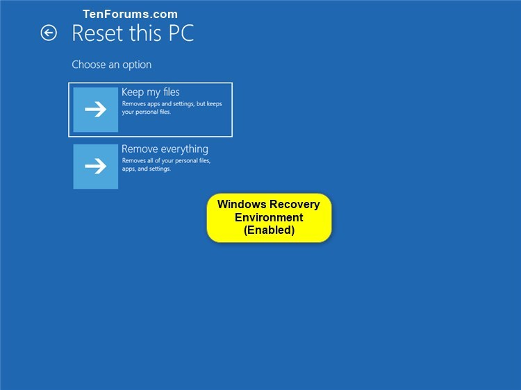 Enable or Disable Windows Recovery Environment in Windows 10-windows_recovery_environment-4.jpg