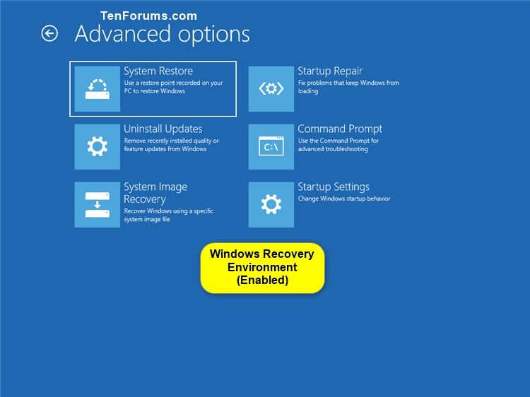 Enable or Disable Windows Recovery Environment in Windows 10-windows_recovery_environment-6.jpg