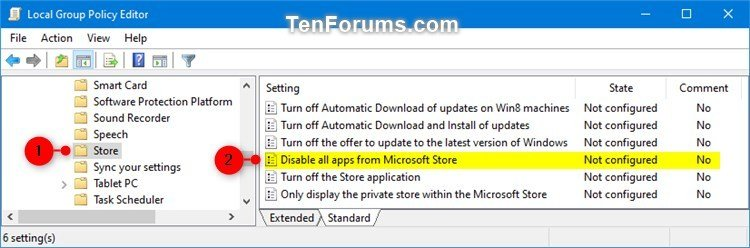 Enable or Disable Microsoft Store Apps in Windows 10 | Tutorials