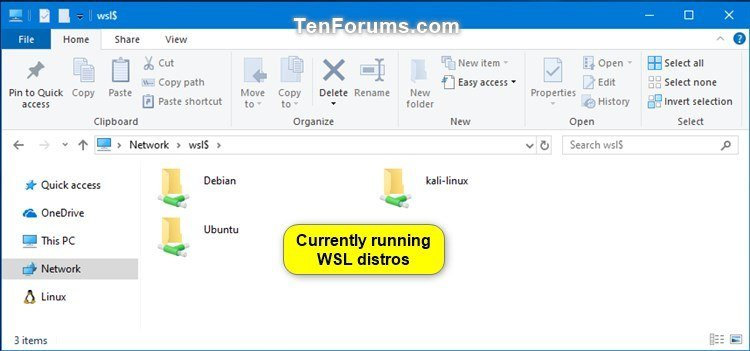 Add or Remove Linux from Navigation Pane in Windows 10