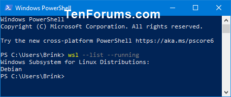 List All Running Windows Subsystem for Linux Distros in Windows 10-list_all_running_wsl_distros_powershell.png