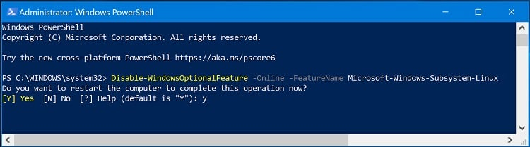 Enable or Disable Windows Subsystem for Linux WSL in Windows