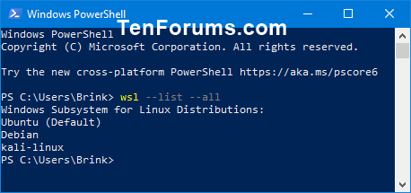 Set Default Windows Subsystem for Linux (WSL) Distro in Windows 10