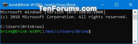 Run Windows Subsystem for Linux (WSL) Distro in Windows 10 | Tutorials