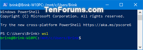 Run Windows Subsystem for Linux (WSL) Distro in Windows 10