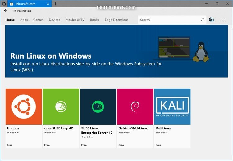 How to Install the Linux Subsystem for Windows 10 Microsoft