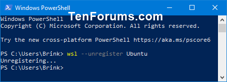 Name:  Unregister_WSL_distro_PowerShell.png Views: 91 Size:  5.0 KB