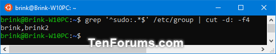 Add, Remove, and List Sudo Users in a WSL Linux Distro in Windows 10-list_sudo_users_in_wsl_distro-1.png