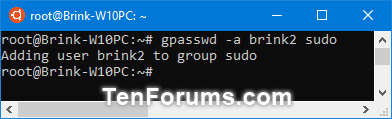 Add, Remove, and List Sudo Users in a WSL Linux Distro in Windows 10