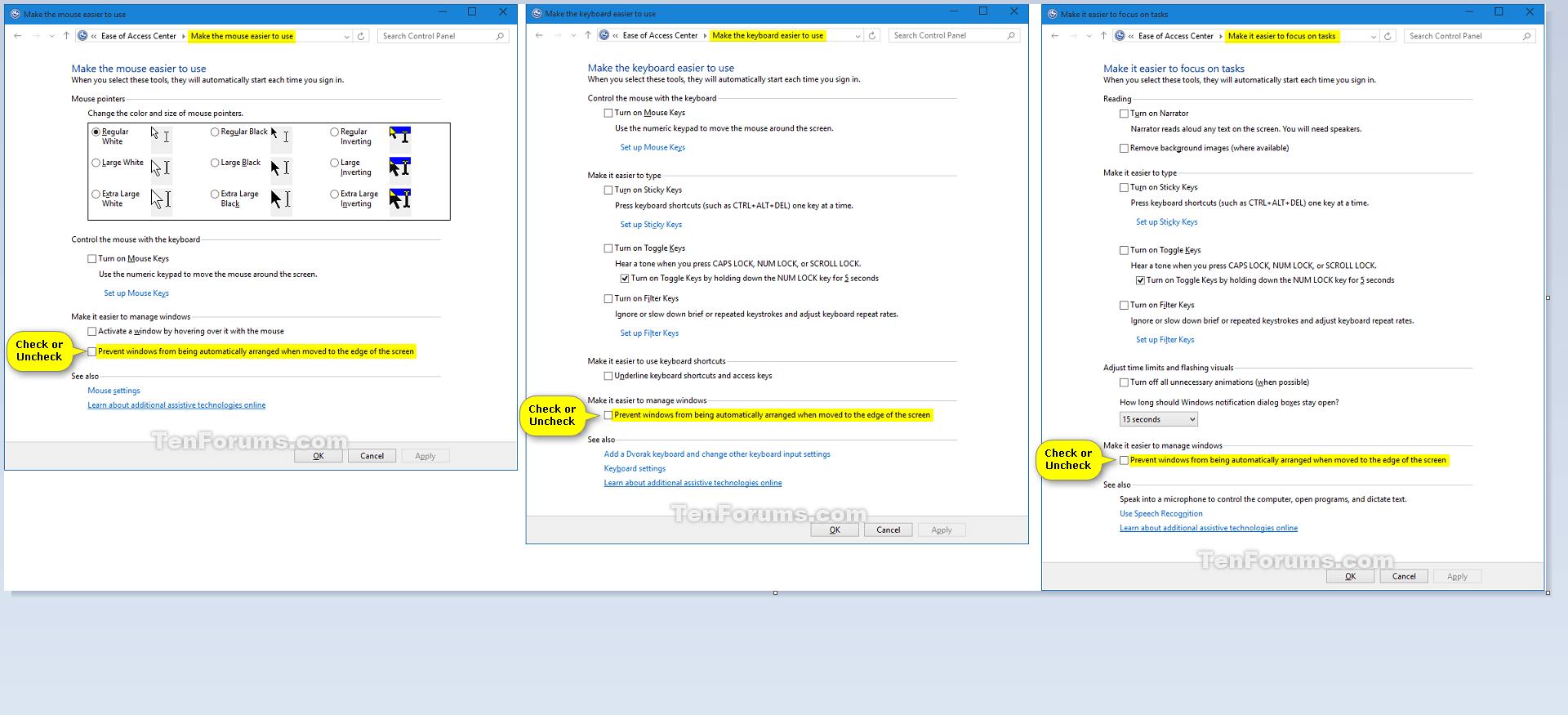 Turn On or Off Snap Windows in Windows 10 | Tutorials