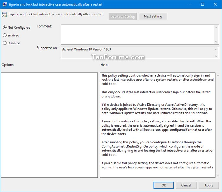 Use sign-in info to auto finish after Update or Restart in Windows 10-1903.jpg
