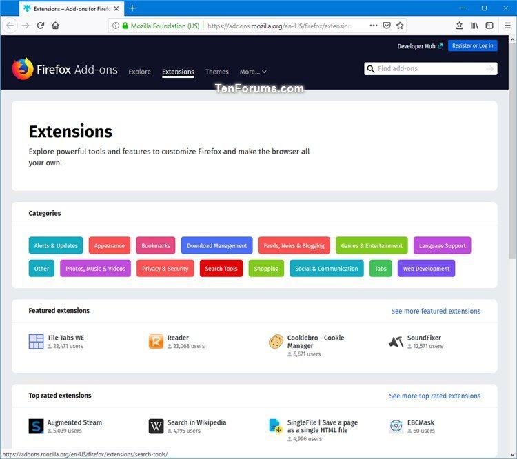 Install Extensions in Mozilla Firefox   Tutorials