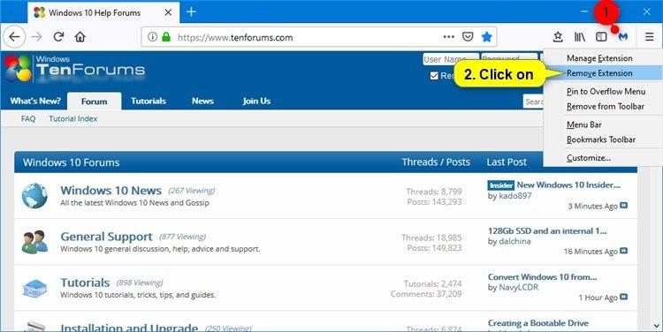 Uninstall Extensions in Mozilla Firefox | Tutorials