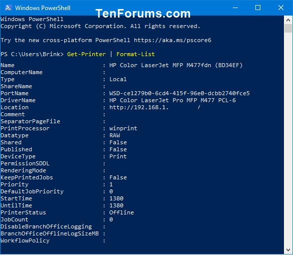 List All Installed Printers in Windows 10 | Tutorials
