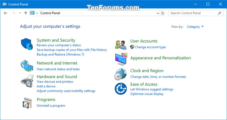 Change Default Control Panel Icons in Windows 10-control_panel_category_view.jpg