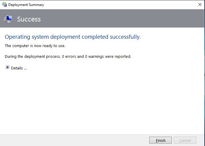 Microsoft Deployment Toolkit - Easy and Fast Windows Deployment-success.jpg