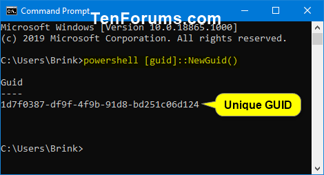 Generate Globally Unique Identifier (GUID) in Windows | Tutorials