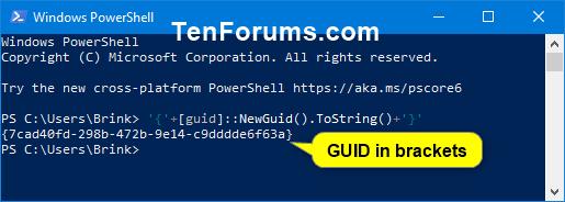 Generate Globally Unique Identifier (GUID) in Windows | Tutorials