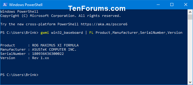 Name:  Motherboard_model_and_serial_PowerShell.png Views: 207 Size:  7.7 KB