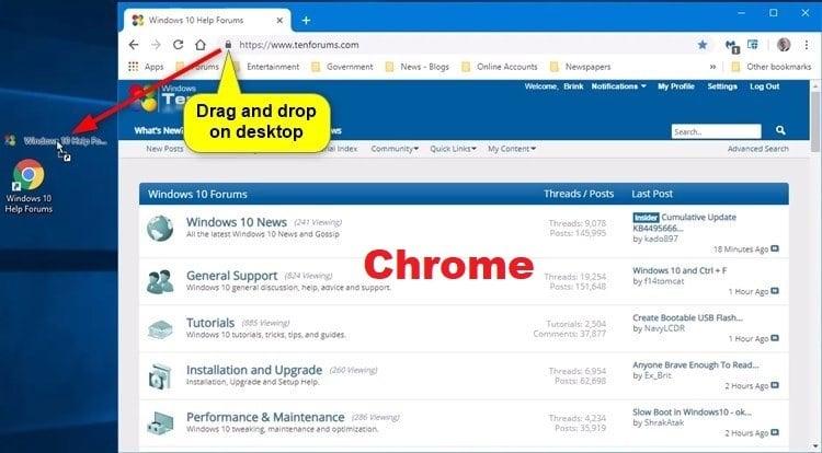 Create Website Shortcut in Windows   Tutorials