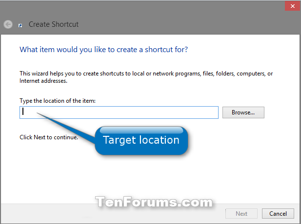 create shortcut for website windows 7