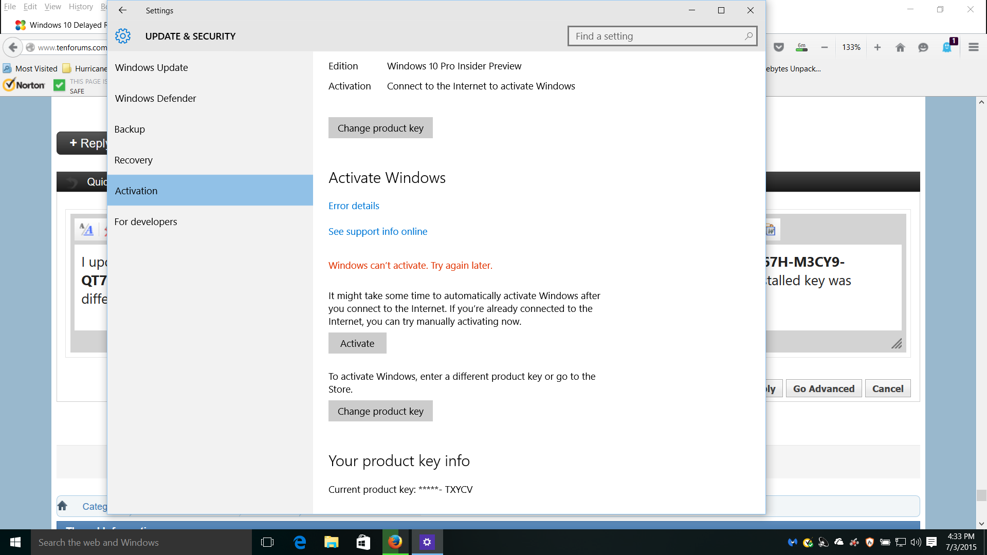 Activate windows 10 page 2 windows 10 tutorials click image for larger version name screenshot 1g views ccuart Images